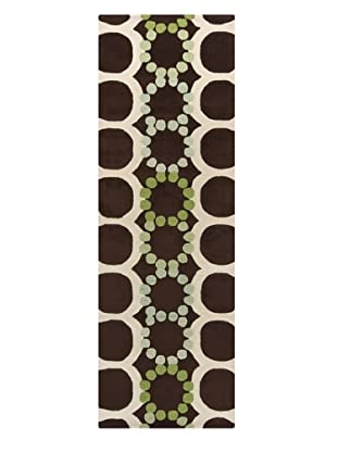 Chandra Avalisa Rug, Brown/Green, 2' 6
