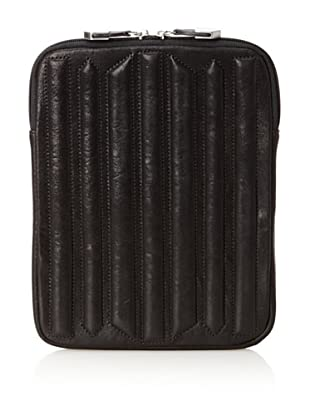 Allibelle Women's Trapunto Striped iPad Case (Black)