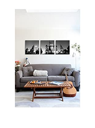 Moscow Panoramic Giclée Canvas Print Triptych