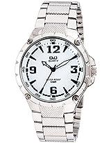Q&Q Regular Analog White Dial Men's Watch - Q960J204Y