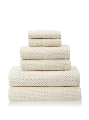 Chortex Honeycomb 6-Piece Bath Towel Set (Almond)