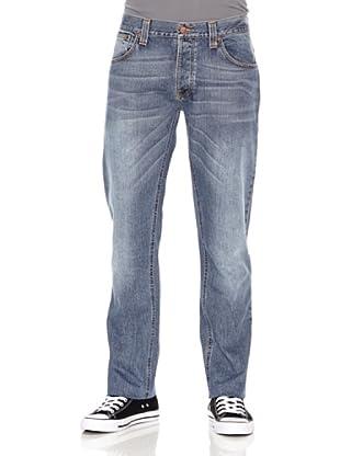Nudie Jeans Pantalón Hank Rey (Azul medio)