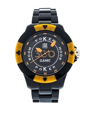 Light Time Reloj Poker Negro / Amarillo