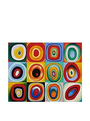 LegendArte Leinwandbild Prova Di Colore di Vassily Kandinsky