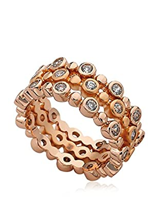 Riccova Retro Cubic Zirconia Rose Gold 3 Stack Rings