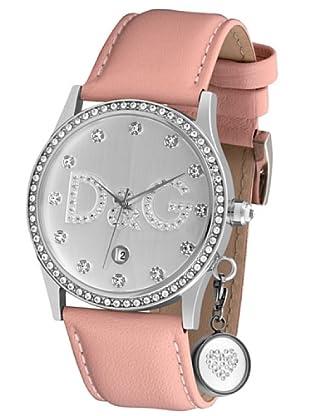 D&G DW0009 - Reloj de Señora movimiento de cuarzo con correa de piel Plata