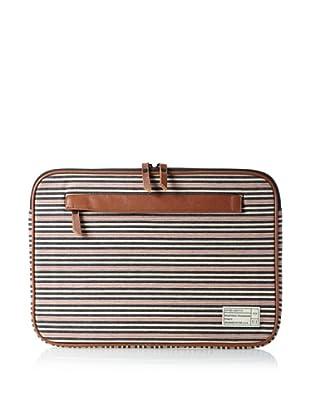 HEX Men's Cabana 15-Inch Macbook Sleeve with Pocket (Cabana Stripe)