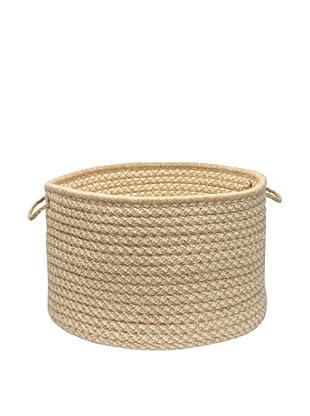 Colonial Mills Natural Wool Houndstooth Basket, (Tea)