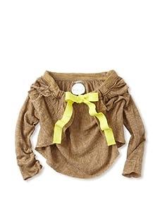 kicokids Girl's 3/4 Sleeve Cape Shrug (Khaki)