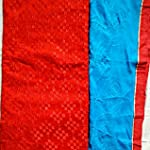 Red & Blue color Chanderi Dress Material