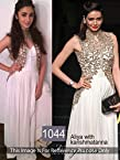 Alia Bhatt And Karishma Tanna in Beautiful White Georgette Net Anarkali