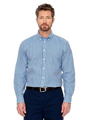 Cortefiel Hemd Vichy (Blau/Weiß)