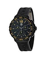 Tag Heuer Formula 1 Chronograph Black And Yellow Dial Black Rubber Men's Watch - Thcau111Eft6024