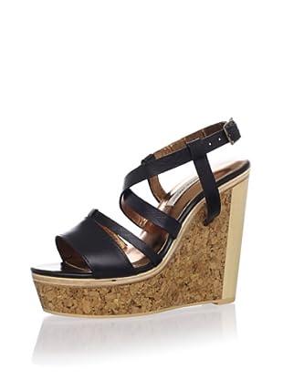 Cynthia Vincent Women's Marlow Platform Sandal (Black)