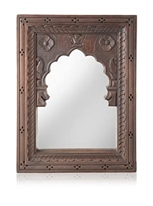 Jamie Young Mewar Carved Small Rectangle Mirror