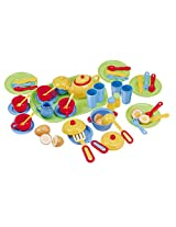 PlayGo Pretend and Play Tea Set with Cutlery, 46-Piece