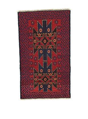 L'Eden del Tappeto Teppich Beluchistan rot/dunkelblau 142t x t84 cm