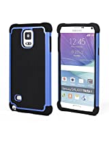 Bracevor Triple Layer Defender Hard Shell Hybrid Case Grip Back Cover for Samsung Galaxy Note 4 - Blue