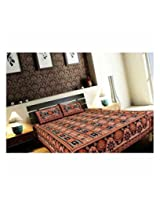 Cotton Double Bedsheet With Two Pillow Covers