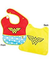 DC Comics Wonder Woman Caped Baby Bib Waterproof Stain Resistant 6-24 Months