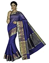Korni Cotton Silk Banarasi Saree DS-1504- Blue KR0456