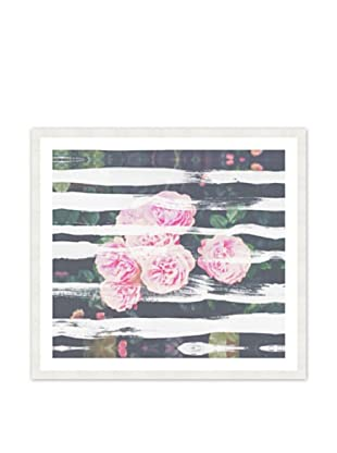 Oliver Gal Blooming Strokes Framed Art