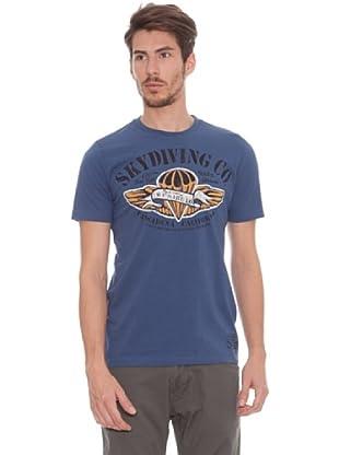 Timeout Camiseta Figura (azul vintage)