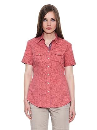Carrera Jeans Camisa Estampada M/C (Coral)