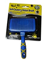Super Dog Hello Pet Self Cleaning Slicker Brush Large