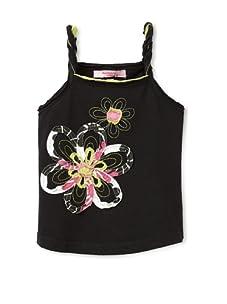 Beetlejuice London Girl's Azalea Twisted Strap Tank (Black)