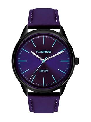 K&BROS 9486-6 / Reloj de Caballero  con correa de piel Morado