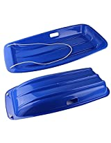 1 Pc Outdoor Extending Sandboarding Plate Thicking Skis Grass Skiing Car Ice Sledge with Rope(Blue)