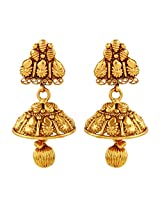 AccessHer Antique Classic Copper Jhumki Earrings