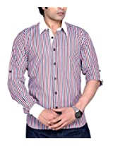 Moksh Men's Striped Casual Shirt V2IMS0414-21 (X-Large)