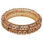 12034-2.6 - Joyas Designer Polki Bangle pair for Women