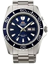 Orient Diving Sports 200m Water Resistance Automatoc Men Blue Dial Silver Meal Strap Round Shape, Made in Japan