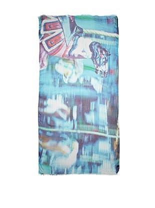 CHIC Women's Carousel Digital Woven Viscose Scarf, Multi, One Size