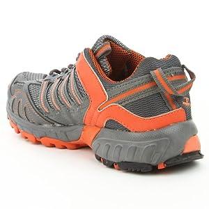 Prozone P-152 Grey & Orange Sport Shoes - For Men - 8