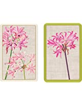 Entertaining with Caspari Double Deck of Bridge Playing Cards, Surprise Lily, Set of 2