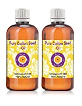 Pure Cotton Seed Oil - Pack of Two (100ml + 100ml) Gossypium Spp 100% Natural Cold pressed