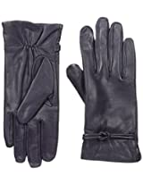 Isotoner Women's Leather Gloves with Fleece Lining