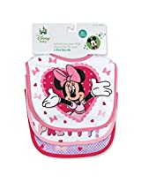 Regent Baby Product Corp Minnie Mouse White Bib, White (3 Pack)