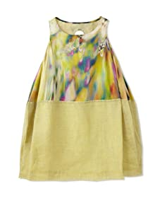 kicokids Girl's Two-Texture Tulip Tank Dress (Starburst)