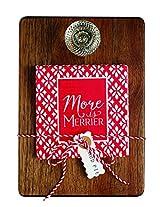 Mud Pie Circa Small Doorknob Cutting Board Set, Brown