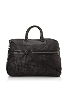 i.am Men's Perforated Carryall with Strap (Black)