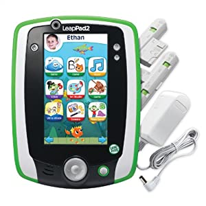 LeapFrog LeapPad2 Power Kids' Learning Tablet, Green (includes rechargeable battery - $40 value)