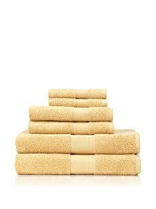 Terrisol 6-Piece MicroCotton Bath Towel Set (Maize)