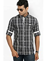 Checks Black Casual Shirt