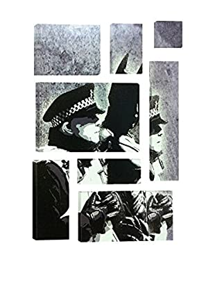 Banksy Batman And The Police Graffiti 8-Piece Giclée On Canvas