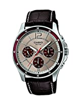 Casio Enticer Analog Grey Dial Men's Watch - MTP-1374L-7A1VDF(A955)